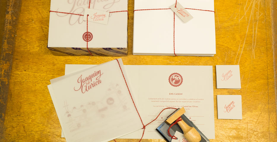 ©Tormiq imprenta Barcelona, boda, casament, segell, vintage, invitacions