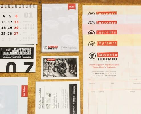 ©Tormiq imprenta Barcelona, carta, sobre, tarjeta, Oficina