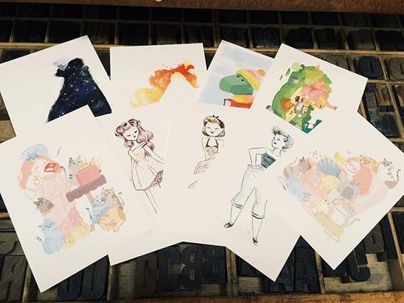 Postals Srta. M - Impressió digital sobre paper Biotop