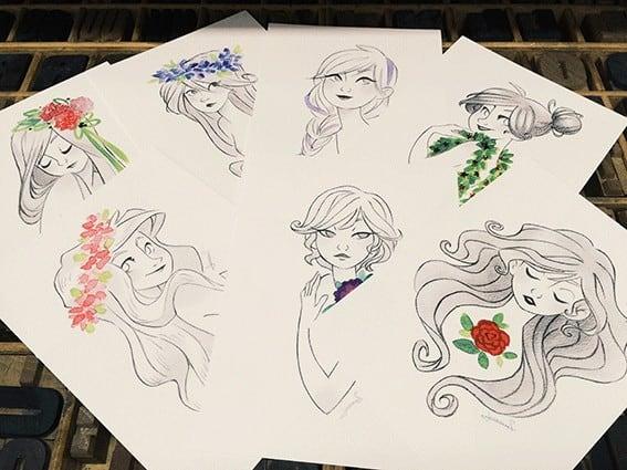 Postals Joanna M - Impressió digital sobre paper Biotop
