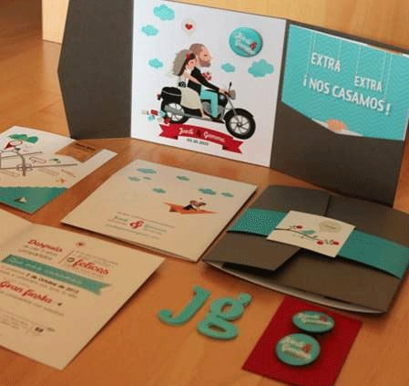 ©Tormiq imprenta Barcelona, boda, invitación, mapa, adhesivo