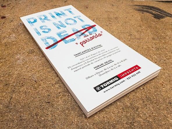 print is not dead, ©tormiq, imprenta, offset, digital, flyer, vacancies