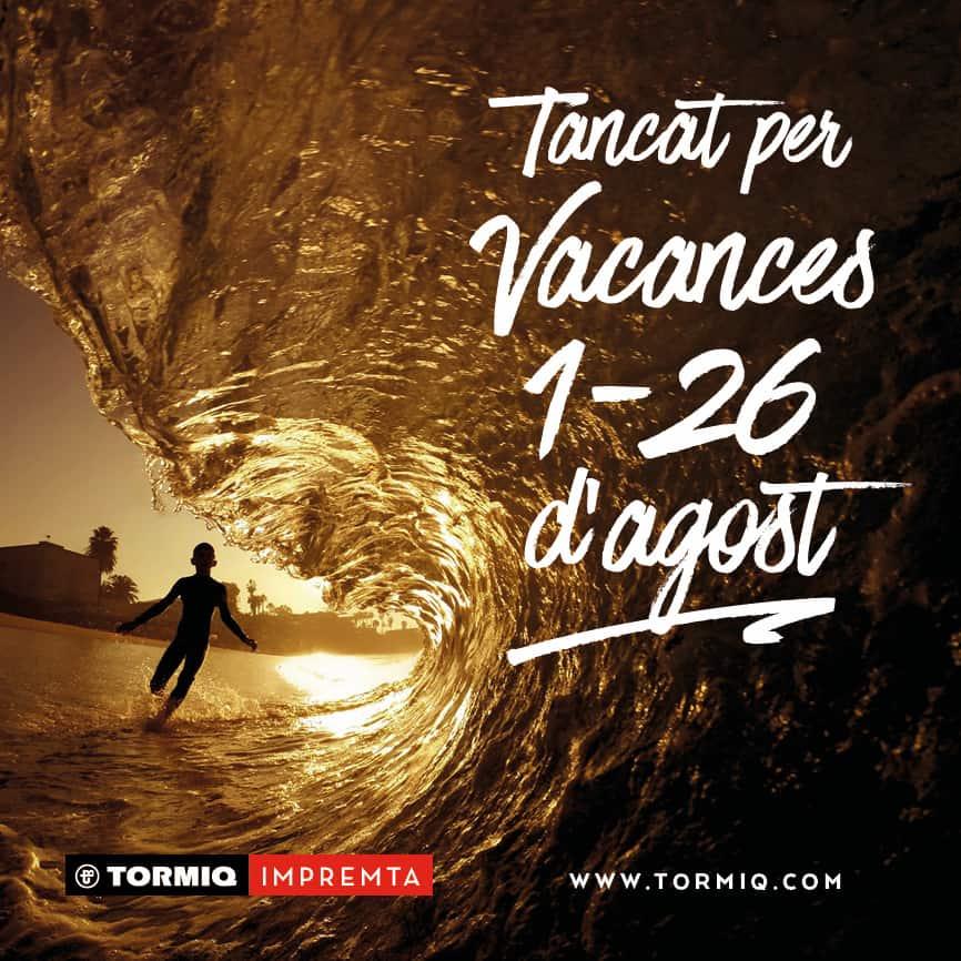tormiq, imprenta, vacances, impressió, barcelona, mar, print, sarrià, printmyday, vidadeunimpresor